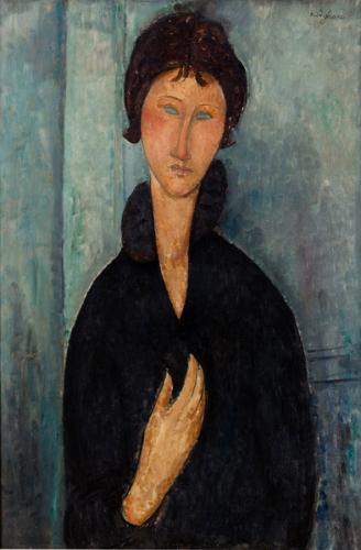 パリ近代美術館 青い目の女